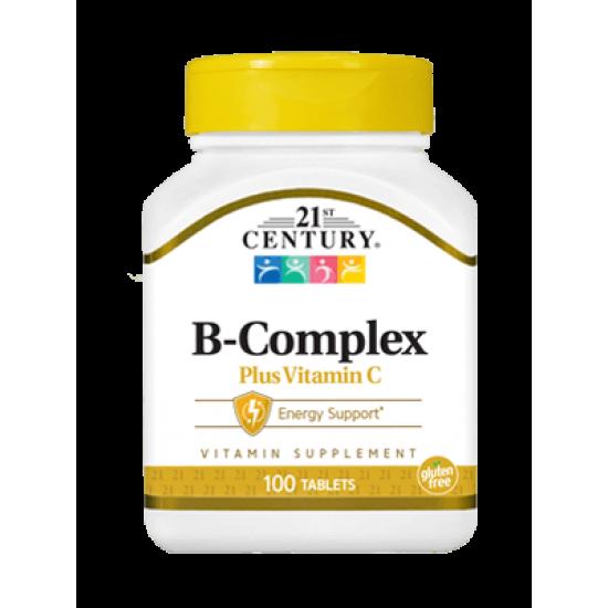 Витамин B Комплекс Натурален с витамин Ц 100 Капсули