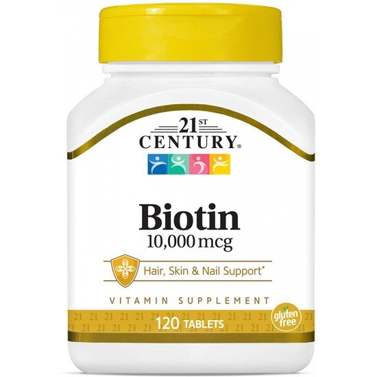 Биотин 10,000 мкг 120 Таблетки