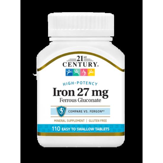Желязо 27 мг 110 Tаблетки