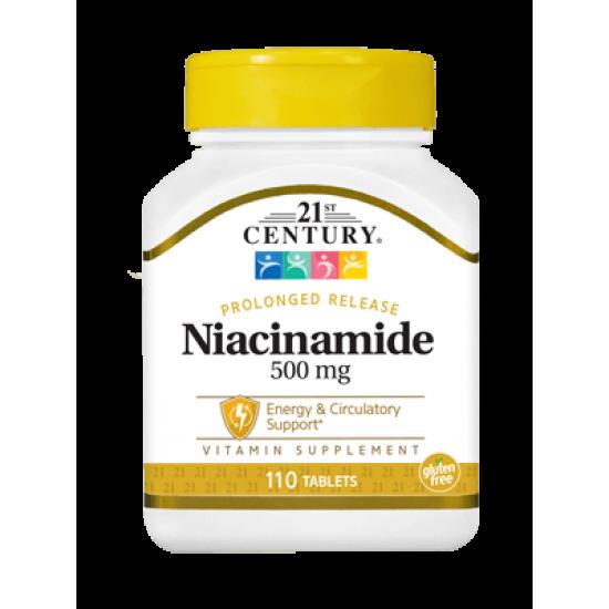 Ниацинамид Витамин B-3 500 мг 110 Таблетки