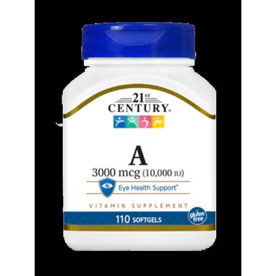 Витамин А 10000 IU 110 Гел Капсули