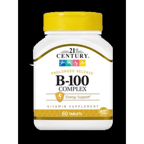 Витамин B-100 Комплекс 60 Таблетки с удължено освобождаване
