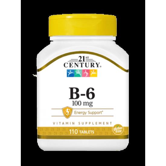 Витамин B6 100 мг 110 Таблетки