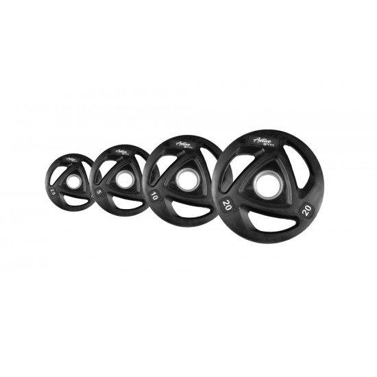 Олимпийски свободни гумени тежести Active Gym 1.25кг - 25кг