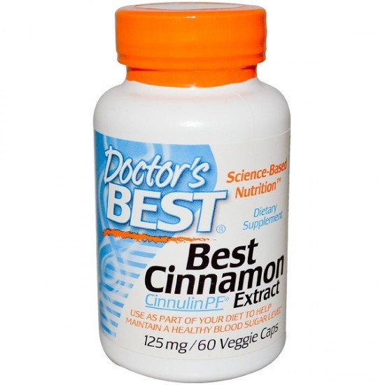 Doctor's Best Best Cinnamon Extract Cinnulin 125 mg