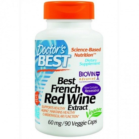 Doctor's Best French Red Wine Extract 60 mg