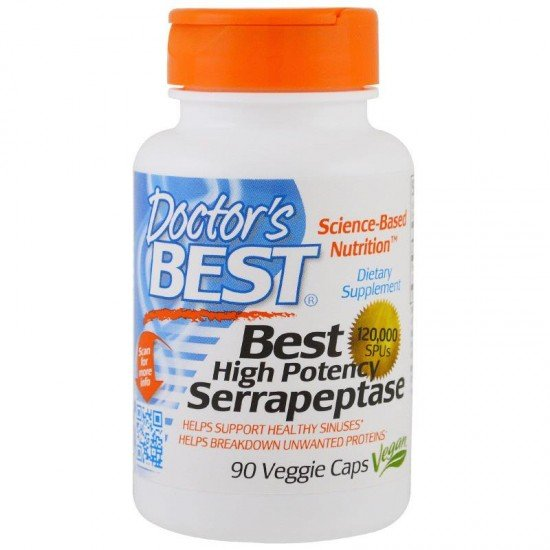 Doctor's Best Serrapeptase 120000 SPU