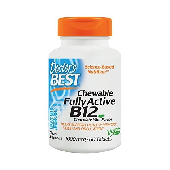 Doctor's Best Chewable Fully Active B12 Chocolate Mint