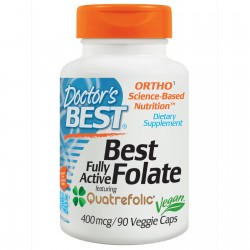 Doctor's Best Fully Active Folate with Quatrefolic 400 mcg