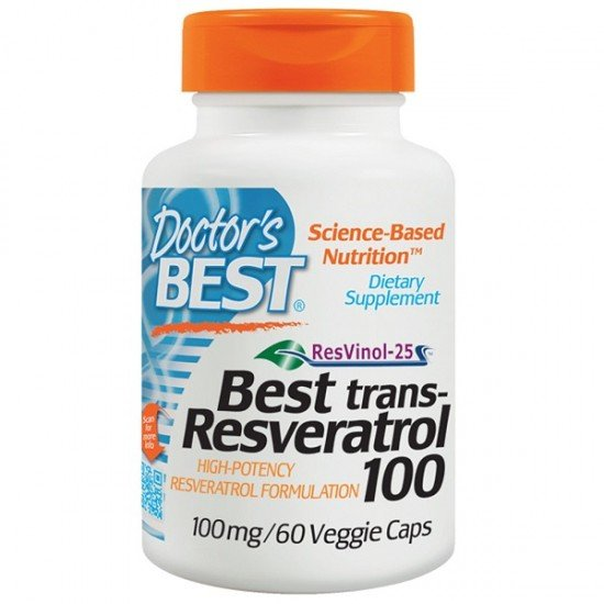 Doctor's Best Trans-Resveratrol 100 mg
