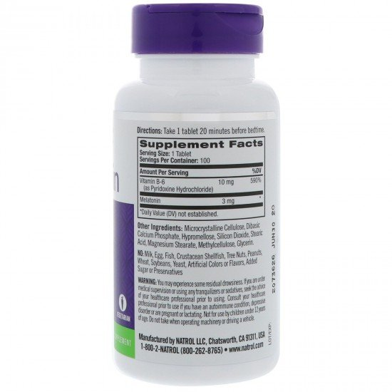 Natrol Melatonin 3mg Time Release