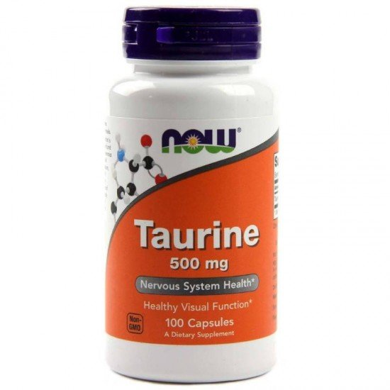 Now Foods Taurine 500 мг