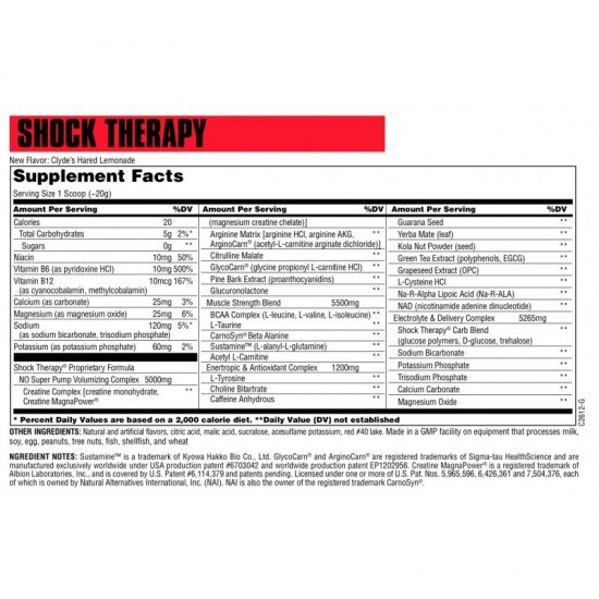 Universal Nutrition Shock Therapy