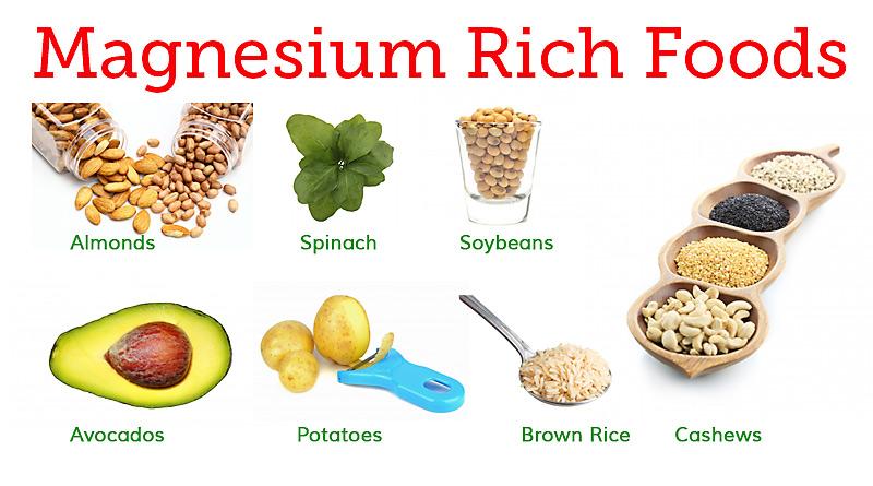 Храни богати на магнезий, а 21st Century ви осигурява 250мг магнезий  на доза.