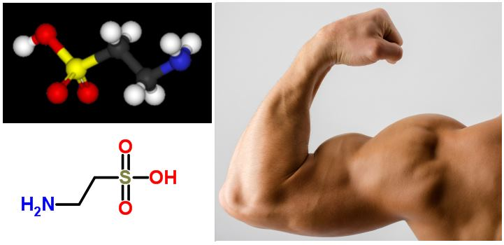 Now Foods Taurine ускорява мускулния растеж.